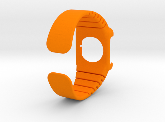 Apple Watch - 42mm LARGE Band in Orange Processed Versatile Plastic