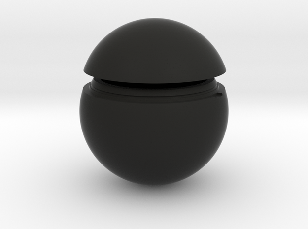 "2.25"" Ball with locking top in Black Natural Versatile Plastic"
