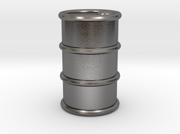 Power Grid Oil Barrels - One Barrel in Polished Nickel Steel