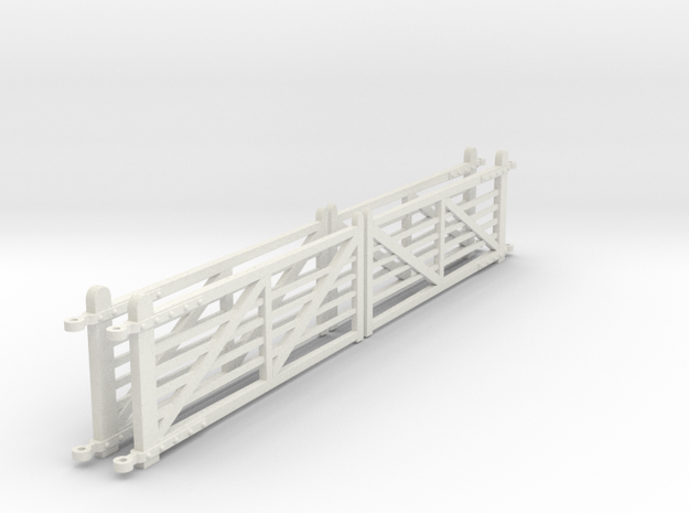 """EP710 4 x NSR 12'6"""" Crossing gates in White Strong & Flexible"""
