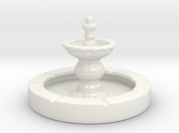 Fish Fountain - For your aquarium! in Gloss White Porcelain