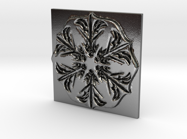 Snowflake in Polished Silver: Small