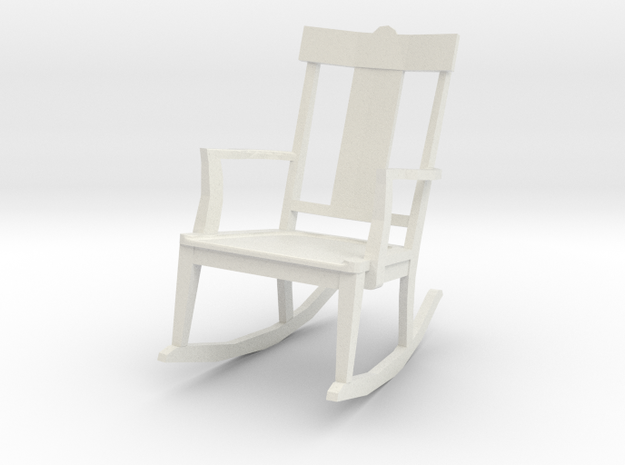 St Charles Rocker 1-24 Scale in White Natural Versatile Plastic