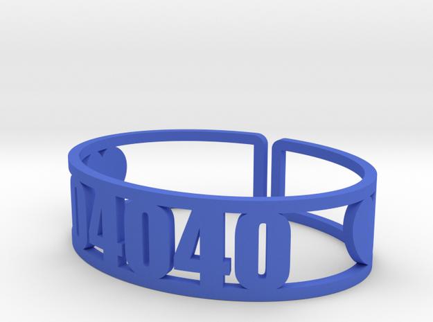 Pinecliffe Zip Cuff in Blue Processed Versatile Plastic