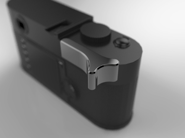 Leica M Camera Thumb Grip in Polished Grey Steel