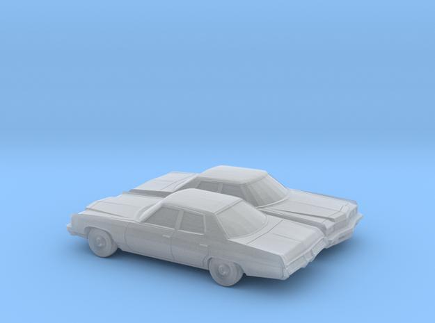 1/160 2X 1973 Chevrolet Impala Sedan in Smooth Fine Detail Plastic