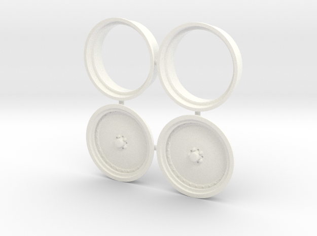 Centerline 1/12 Competition Elite Drag wheel Fron in White Processed Versatile Plastic