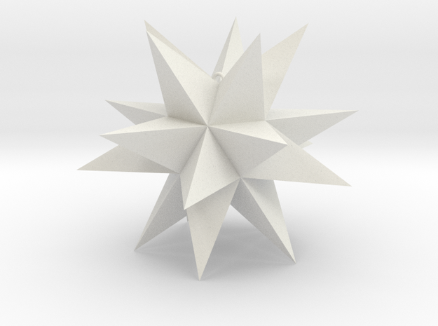 Spikey Stellation 3.2 in White Strong & Flexible