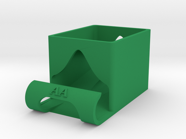 AA Battery Holder - FIFO in Green Strong & Flexible Polished