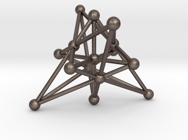 Generalized Quadrangle in Polished Bronzed Silver Steel