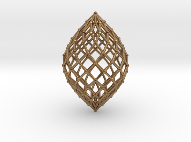 0581 Polar Zonohedron V&E [12] #002 in Natural Brass