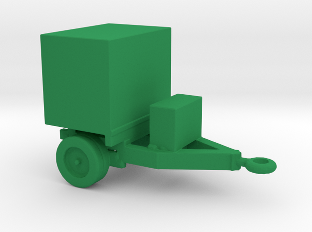 1/200 Scale Generator Trailer in Green Strong & Flexible Polished