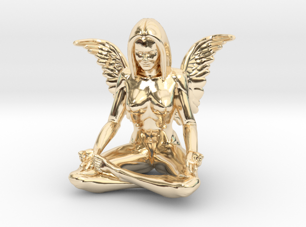 Angel-45mm Angel.STL in 14k Gold Plated