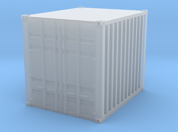 1:160 10 ft container Baucontainer in Smooth Fine Detail Plastic