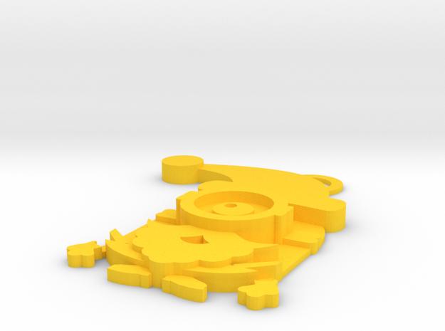 Stuart-Santa Claus in Yellow Processed Versatile Plastic