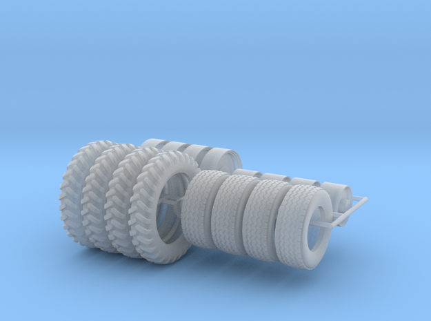1/64 NH3 Applicator Wheels and Tires in Smooth Fine Detail Plastic