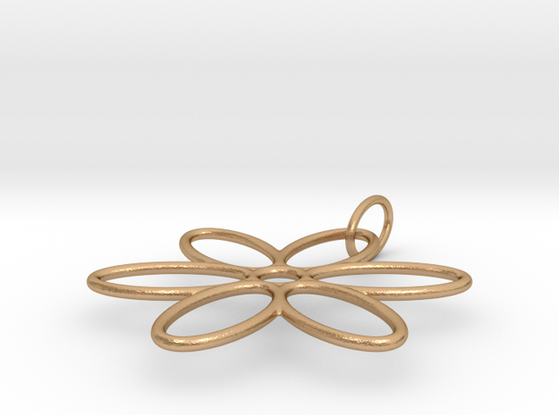 Flower Pendant Wire Large in Natural Bronze (Interlocking Parts)