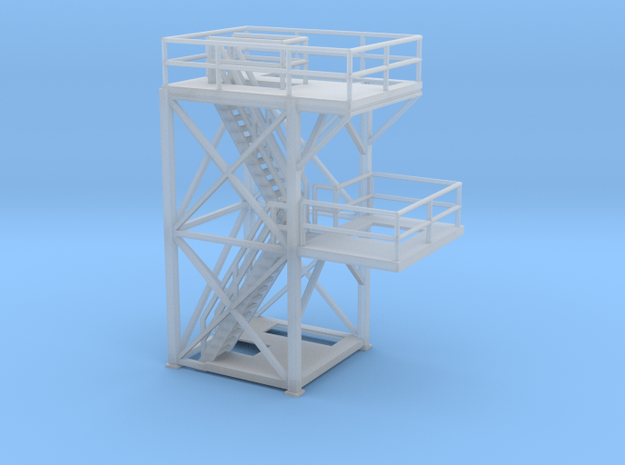 'N Scale' -10'x10'x20' Tower Top With Platform for in Smooth Fine Detail Plastic