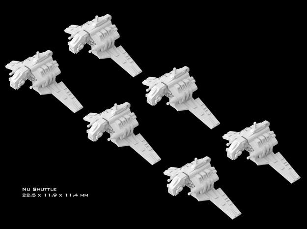 (Armada) 6x Nu Shuttle in Smooth Fine Detail Plastic