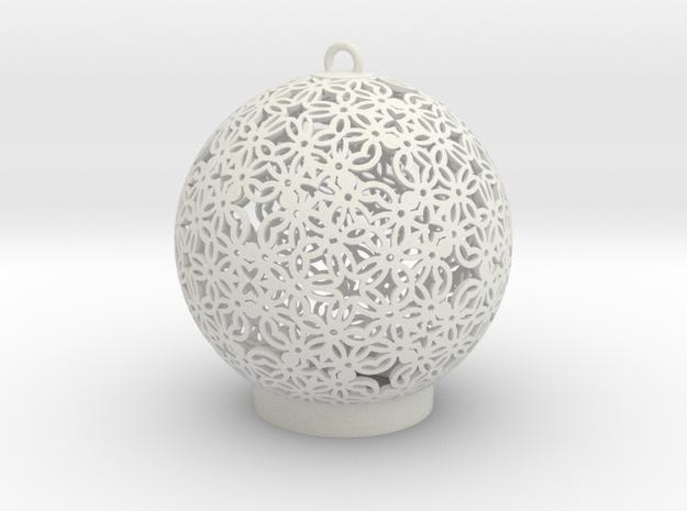Ornament A1 in White Natural Versatile Plastic