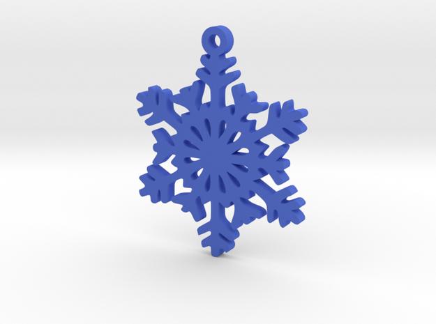 Snow Crystal Earring in Blue Processed Versatile Plastic