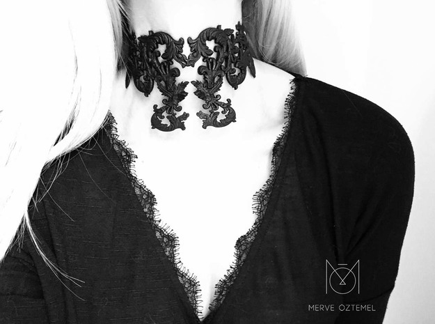 Ornamental Necklace in Black Strong & Flexible