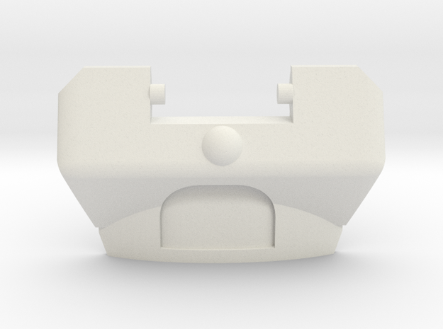 G1 Moonracer Chestplate for CW Steetwise/Prowl in White Natural Versatile Plastic