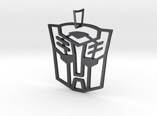 Autobots Pendant in Polished and Bronzed Black Steel
