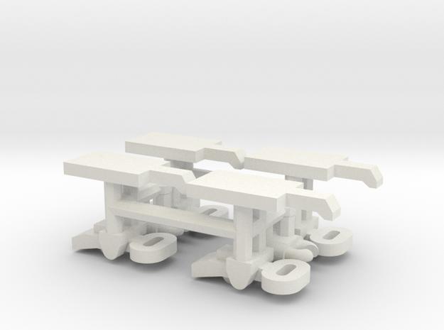 1/16 Turret Bin Clasps (Pz III / IV) in White Natural Versatile Plastic