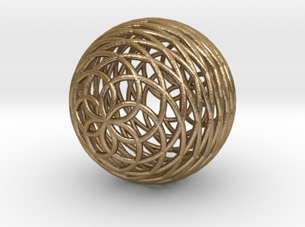 0587 Kosekomahedron [003] complete in Polished Gold Steel