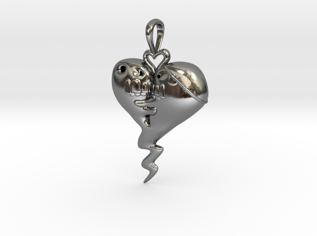 The Sprite Of Love in Polished Silver