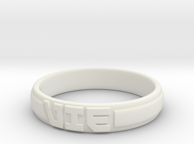 VIE Ring in White Natural Versatile Plastic