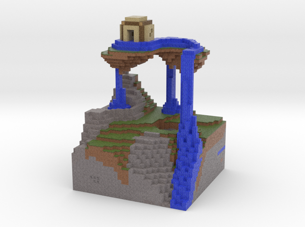 Floating Island Pen Stand in Full Color Sandstone