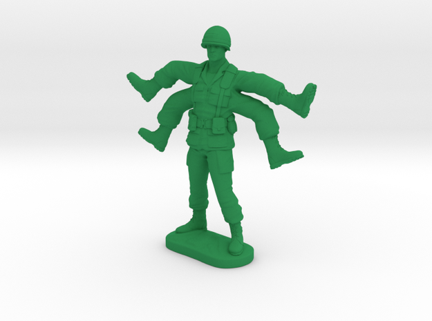 Foot Soldier | Weird Warrior | Mutant Army Man in Green Processed Versatile Plastic
