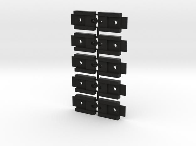 Lionel O Scale Die Cast 3-Bay Hopper Coupler Mount in Black Natural Versatile Plastic