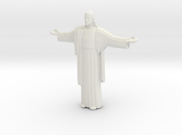 Cristo-redentor Large in White Natural Versatile Plastic
