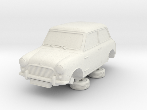 1-87 Austin 64 Saloon in White Natural Versatile Plastic