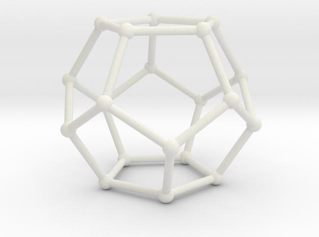 Pentahedronpieza in White Strong & Flexible