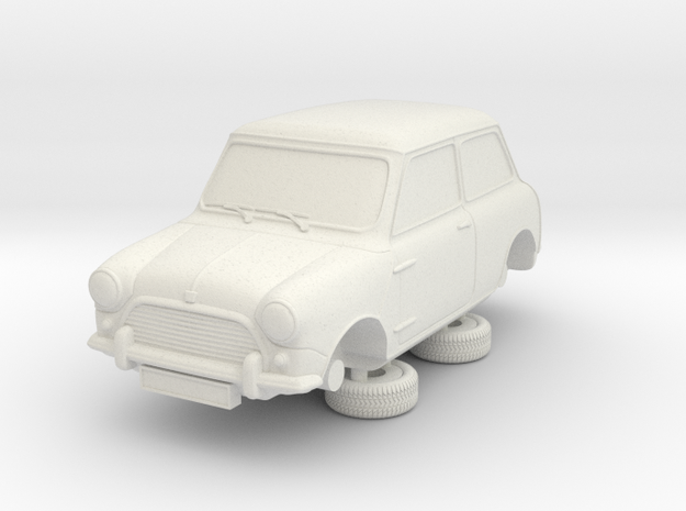 1-64 Austin 64 Saloon in White Natural Versatile Plastic