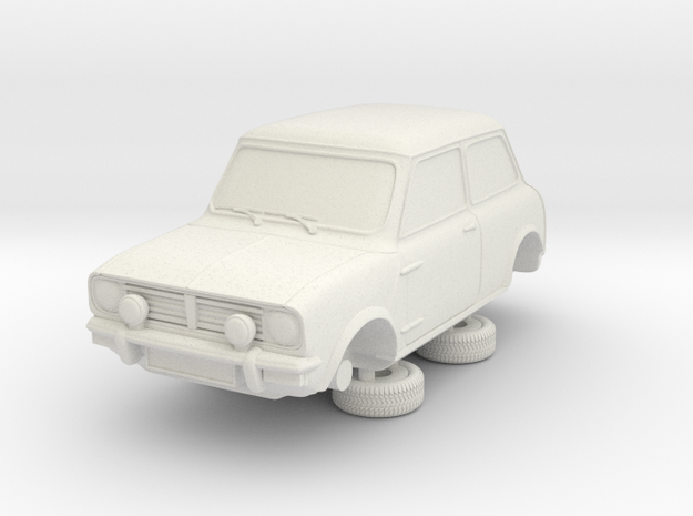 1-64 Austin 74 Saloon 1275 Gt in White Natural Versatile Plastic