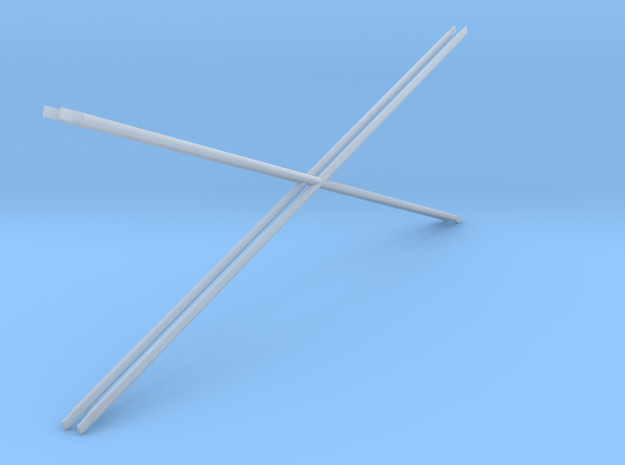 1:48 2 Diag Crossbars 84x28 in Frosted Ultra Detail