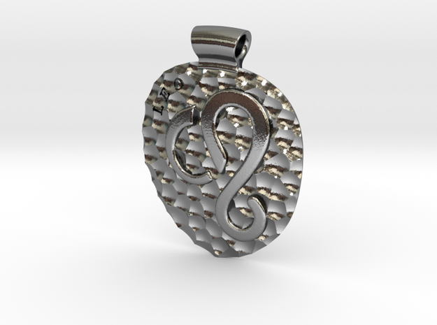 Leo Pendant in Polished Silver