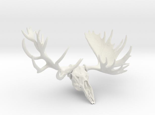 """Hook"" the Moose European Mount  in White Strong & Flexible"