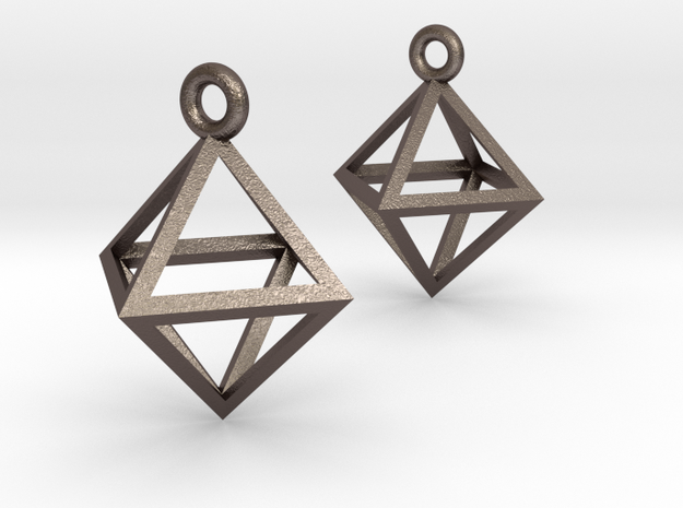 Octahedron Earrings