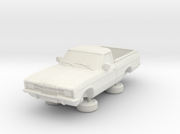 1-64 Ford Cortina Mk3 2 Door P100 Square Hl in White Natural Versatile Plastic
