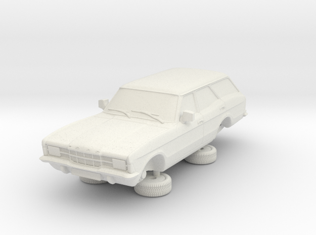 1-64 Ford Cortina Mk3 4 Door Estate Square Hl in White Natural Versatile Plastic