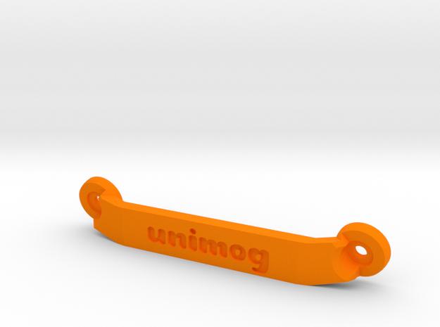 CW01 Chassis Brace - Rear - Unimog in Orange Processed Versatile Plastic