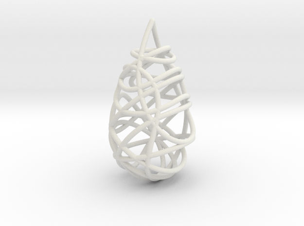 Intertwined Drop Pendant in White Strong & Flexible