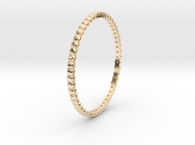"Bangle simple ""diamonds"" 4 in 14k Gold Plated"