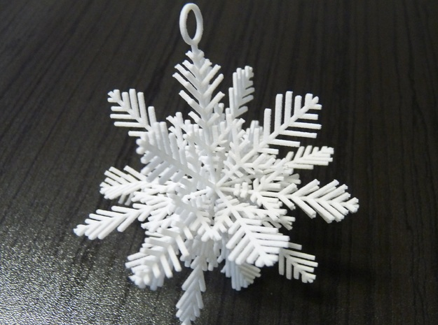 Snowflake for Decoration in White Natural Versatile Plastic